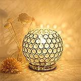 Albrillo Desgin Kristall Tischlampe, Klassische Dekorative Tischleuchte mit E27 Fassung für Wohnzimmer, Schlafzimmer, Esszimmer