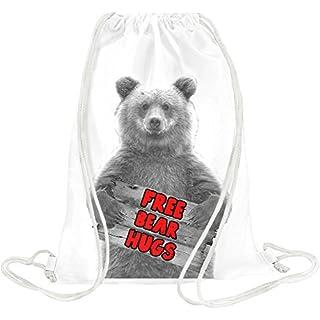 Free Bear Hugs Drawstring bag