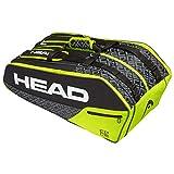 HEAD Core 9R Supercombi, Borsa per Racchetta Unisex Adulto, Black/Neon Yellow