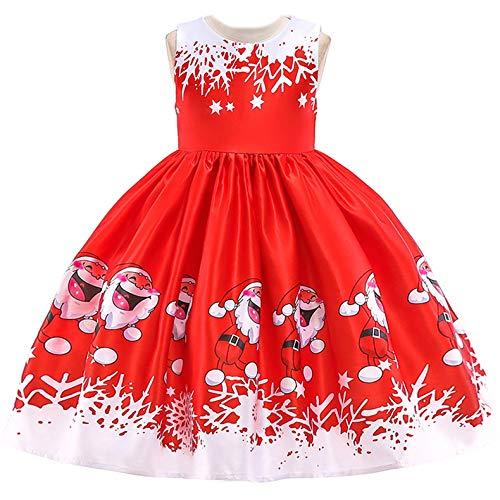 FStory&Winyee Mädchen Kleid für Weihnachten Kotüme Festlich Kinder -