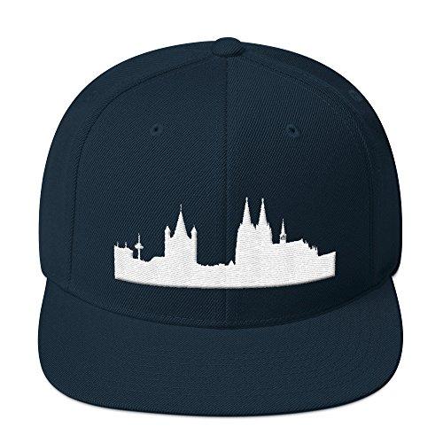 Coole Männer Köln (PlimPlom Köln Snapback Kappe Baseball Cap Cooles Cologne Design 3D Gestickt Für Damen und Herren)