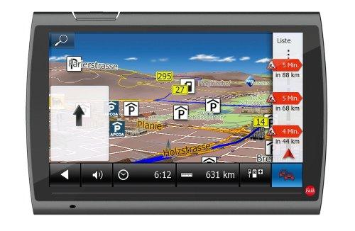 Falk NEO 520 LMU Navigationsgerät (12,7 cm (5 Zoll) Display, 20 Länder Europas vorinstalliert, Lebenslange Kartenupdates, TMC, Marco Polo Travelguide) schwarz