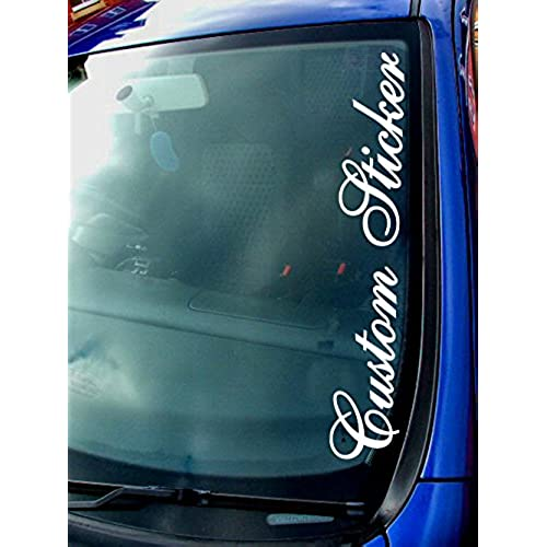 Car Windscreen Name Stickers Uk Kamos Sticker - Window decals custom uk
