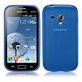 TBOC Funda de Gel TPU Azul para Samsung Galaxy Trend Plus S7580 de Silicona Ultrafina y Flexible