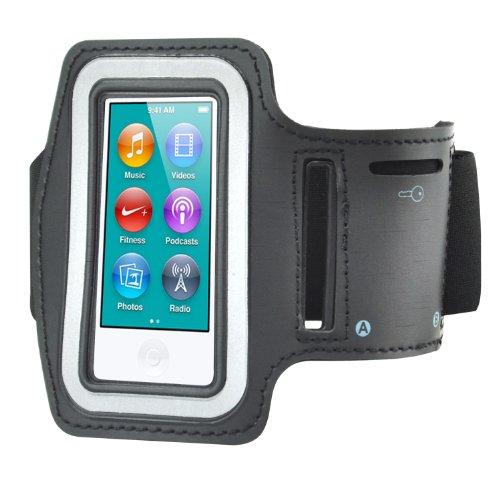 TRIXES Sportarmband mit Tasche für iPod Nano 7 & Key in Schwarz (Training-band Für Nano Ipod Den)