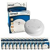 12x Nemaxx WL2 Funkrauchmelder ★ hochwertiger Rauchmelder Brandmelder Set Funk koppelbar vernetzt ★ nach DIN EN 14604