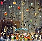 Zxfcczxf Zug WeihnachtskugelEntfernbare Wandaufkleber Neue Kinder Kinder Bunte Aufkleber Hause Raumdekoration Diy Kunst Decol