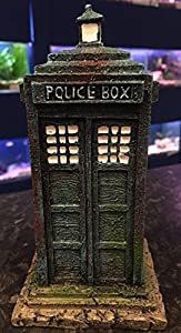 16cm Dr Who Tardis Police Box Aquarium Fish Tank Ornament
