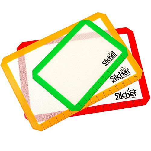 Silicone Non Stick Baking Mats with Measurements - 2 Half Sheet Liners & 1...