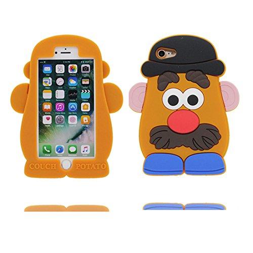 """iPhone 7 Plus Coque, Cartoon 3D Disney Toy Ours, Case iPhone 7 Plus Étui, TPU Flexible Durable Shock Dust Resistant Shell iPhone 7 Plus Cover 5.5"""" marron"""
