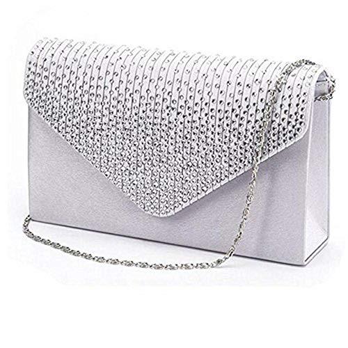 n Frauen Damen große Abend Party taschen Satin Braut Diamante Clutch Bag Leder Kleine Brieftasche 2019 Frauen Kleine Umhängetasche ()