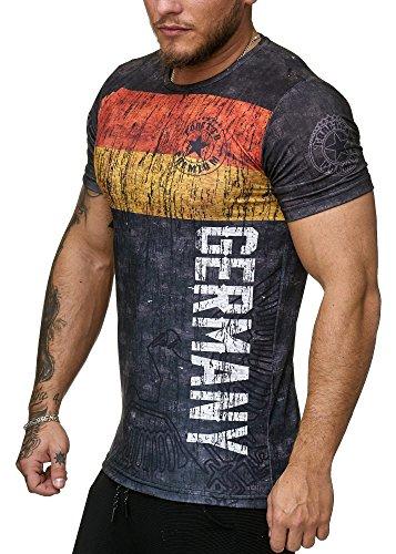 Deutschland T-Shirt Herren Schwarz Adler Germany Men Skull World Cup 2018 Männer Shirt Ländershirt (S, Deutschland)
