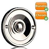 Unterputz Klingelknopf aus Chrom | Klingel Knopf Klingeltaster Tür-Klingel Auslöser