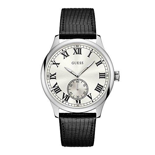 GUESS Cambridge Herren-Armbanduhr 44mm Armband Leder Schwarz Batterie W1075G1