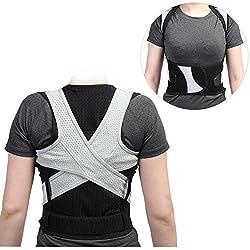 Haltungskorrektur Geradehalter Ultradünn Atmungsaktiv Superelastisch Rückenbandage zur Schulter Rücken Taille für 8-20 Kinder und Jugendlichen (Höhe für 155cm-165cm) (L)