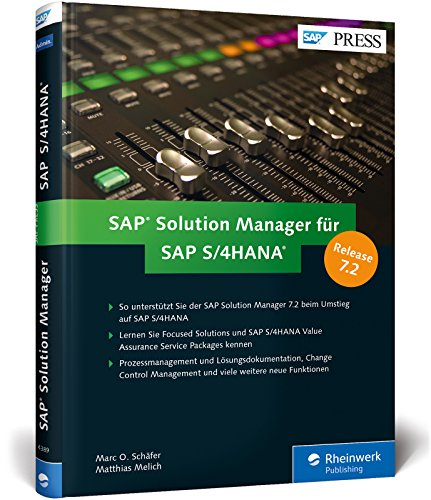 SAP Solution Manager für SAP S/4HANA: Alle Neuerungen in SolMan 7.2, inkl....