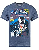 Marvel Venom Comic Cover Men's Burnout T-Shirt (L)