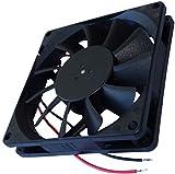 Aerzetix - Ventola di raffreddamento assiale con alloggiamento per computer PC 24V 80x80x15mm 62,86m3/h 34,7dBA 3000rpm 2.21W 0.092A 2 cavi di collegamento 24AWG .