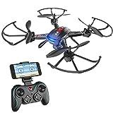 Holy Stone F181W FPV WIFI Drohne Quadrocopter mit 720P Wide-Angle HD Kamera live übertragung rc helikopter ferngesteuert mit automatische höhe halten, Headless-System, Schwerkraft-Sensor für Anfänger