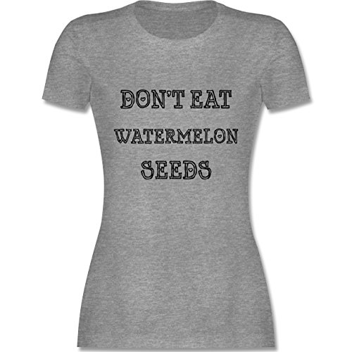 Schwangerschaft - Don't eat Watermelon Seeds - XL - Grau meliert - L19