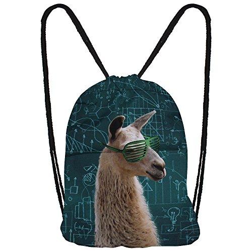 hanessa sacchetto di iuta con animale stampa Hipster Fashion Sport sacchetto Bags Zaino Borsa A Sacco Gym Bag borsa sportiva-borsa per la spesa