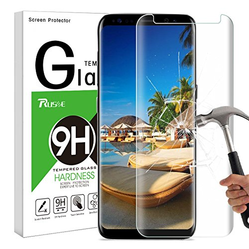 Galaxy S8 Plus Screen Protector, Rusee Samsung Galaxy S8 Plus Tempered Glass Screen Protector Film, Case Friendly, Ultra HD Clear, 9H Hardness, Bubble Free Guard Cover for Samsung Galaxy S8+ Plus