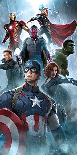 Marvel Avengers Age of Ultron Vision Baumwolle Strand Badetuch 70x 140cm