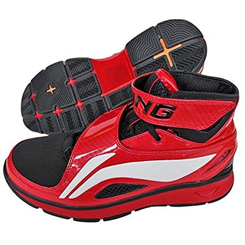 Li-Ning Ning B573 Chaussures De Sport Basket Chaussures de basket-ball ROUGE Rouge