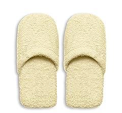 Idea Regalo - Excelsa Bagno Caldo Pantofole Da Uomo, Spugna, Crema, 30x12x5 cm