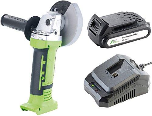 AGT Professional Akku Werkzeug: Winkelschleifer AW-18.ws mit Akku und Ladegerät (Trennschleifer)