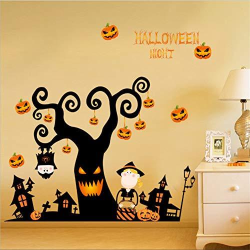 Hersteller Halloween Cartoon Kürbis Licht Festival Wandaufkleber Horror Scary Wohnzimmer Schlafzimmer Wohnkultur Kinderzimmer ()