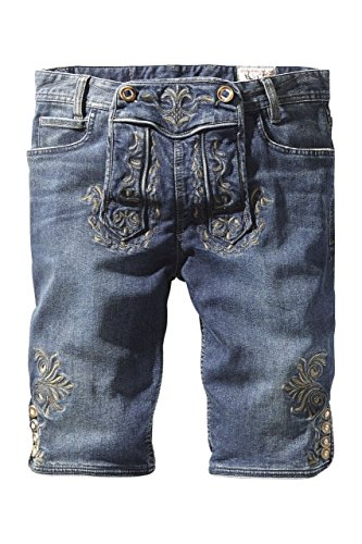 Stockerpoint - Herren Trachtenshort Jeans, Mick, Größe:XL;Farbe:Indigo