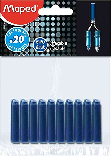 Preisvergleich Produktbild Maped 221910löschbarer Tinte Patronen–Blau (20Stück)
