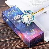 MKGHY Fiori secchi Simulazione Eternity Rose Arcobaleno Valentine's Day Romantic 24k Gold Foil Flower Wedding Gift Bella LED Luminosa Rose Flower-in Artificiale & amp;Fiori secchi A
