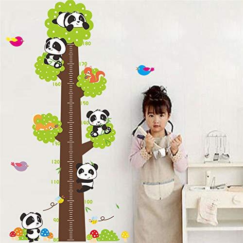Frech Panda Clim Tree Birds Höhe Maßnahme Wandaufkleber Für Kinderzimmer Wohnkultur Wandtattoos Wandbild Kunst Pvc Cartoon Poster (Arabische Freche Mädchen)