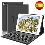 SENGBIRCH Funda con Teclado para iPad Mini 5 2019 Funda Ultrafino con Teclado Bluetooth Inalámbrico Español Compatible con 7.9 Pulgadas iPad Mini 5/4/3/2/1 (Negro)