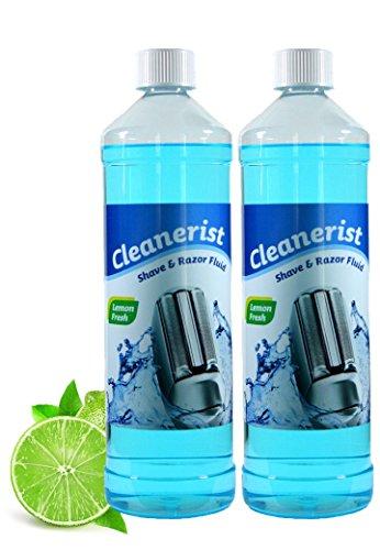 Cleanerist Scherkopfreiniger zum Nachfüllen von Braun Clean&Charge Stationen der Serie: 9070cc / 9075cc / 9090cc, 2 x 1 Liter