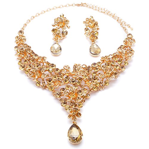 Yulaili Diamond Jewellery Set Pearl Wedding Cool Crystal Necklaces Handmade Jewelry Necklace Gem Trendy (As Picture)