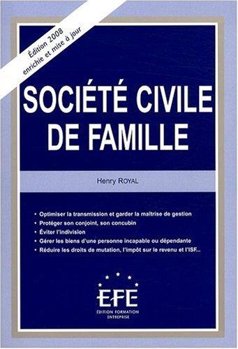 Société civile de famille par Henri Royal