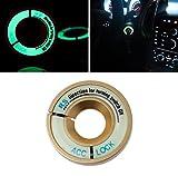 GOLD Leuchtend Zündschloss ABDECKUNG Ring Dekorative Aufkleber Ring Schlüsselloch Schutz Ring Start Schalterknopf Alu Rahmen FLUORESZIEREND leuchtet im Dunkeln - sarachen - INION®