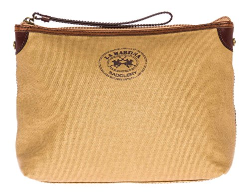 la-martina-women-cosmetic-bag-dark-beige-one-size