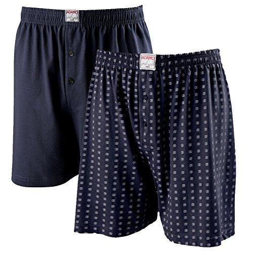 ADAMO Boxershorts DEAN | Herren Boxershorts I Männer Shorts | Boxershorts Men | Shorts Herren I Herrenunterwäsche I 100% Baumwolle 2er Pack in dunkelblau Übergrößen 8-24 / XXL-10XL, Größe:20