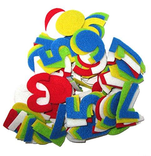 FEIHOFF Toys - Basteln - Filzen - Filz Formen - Zahlen 0-9 - 5 versch.Farben - Höhe ca.4,5cm - Dicke ca.2mm - ca.120St - (1x1Set)
