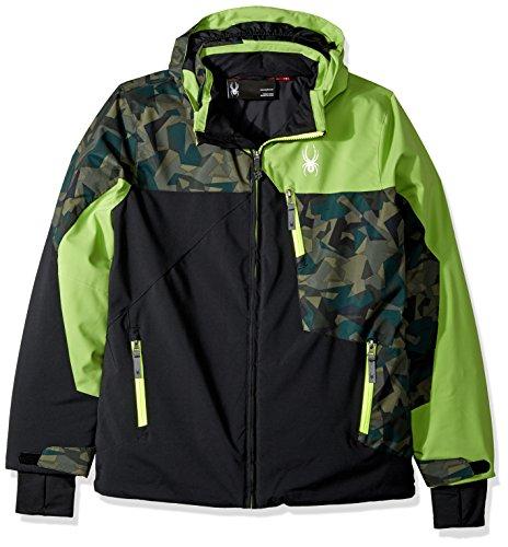 Spyder Boys Skijacke schwarz/grün (702), Kyds 20, 176 (Spyder-jungen Jacke)