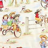 Michael Miller Cowboy Kinder-Stoff, 100% Baumwolle, Fat