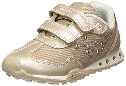 Geox Mädchen JR New Jocker Girl D Sneaker, Beige/Lt Gold, 34 EU - Geox Jocker Girl
