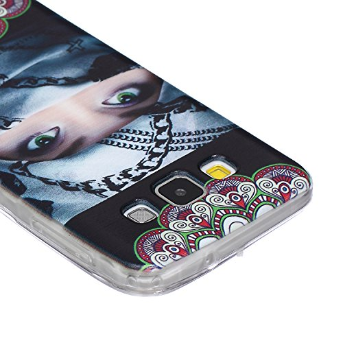 SainCat Coque Housse pour Samsung Galaxy A3(2015),Transparent Coque Silicone Etui Housse, Galaxy A3 Silicone Case Soft Gel Cover Anti-Scratch Transparent Case TPU Cover,Fonction Support Protection Com femme Echarpe