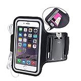 Avantree iPhone 6 6s Armband Case Tasche Sweatproof Joggen Sport Fitness  bis 4.7 Zoll + Schlüsselhalter + Kopfhörerhalterung  für iPhone 5 5s 5C 4S 6 6S Samsung Galaxy S3 S4 und viele mehr - Shield