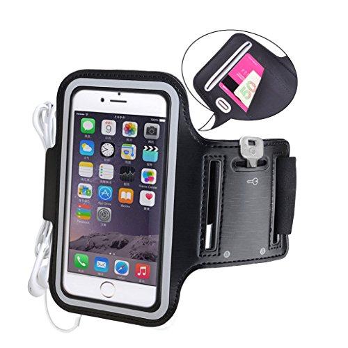 Avantree iPhone 6 6s Armband Case Tasche Sweatproof Joggen Sport Fitness, bis 4.7 Zoll + Schlüsselhalter + Kopfhörerhalterung, für iPhone 5 5s 5C 4S 6 6S Samsung Galaxy S3 S4 und viele mehr - Shield (Iphone 6 Armband, Mit Tasche)