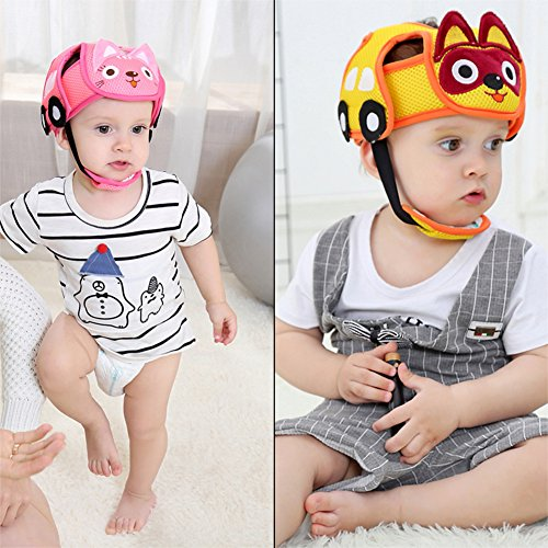 Baby Anti Cap Protective Head Safety Helmet Guard Anticollision Infant Toddler Head-Guard Hat Adjustable Harnesses Multicolour Kids Protection For Walking Crawling Children Headguard Cushion Bumper Protector Lightweight Comfort Soft Anti-Collision Infants